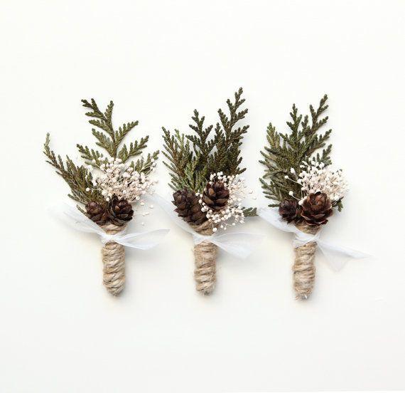 Hochzeit Boutonniere Groomsmen Knopfloch Woodland von whichgoose, $ 18.00 #SmallW …   – 12321