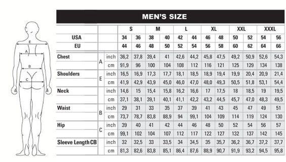 Image result for men;s clothing size chart eu