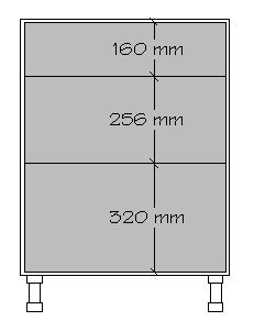 Because slides and hinges are mounted to system holes and vertically spaced some multiple of 32mm apart, drawer and door faces need to be sized in increments of 32mm to maintain a consistent relationship to the hardware and system holes. While drawn as multiples of 32mm, we need gaps between the faces to provide clearance. Like most system components, faces are sized in multiples of 32mm +/- a constant, i.e. increments (VS multiples) of 32mm. Faces are always a multiple of 32mm minus the…