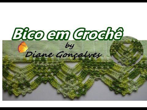 Aprenda a fazer Bico em Crochê em a artesã  Diane Gonçalves