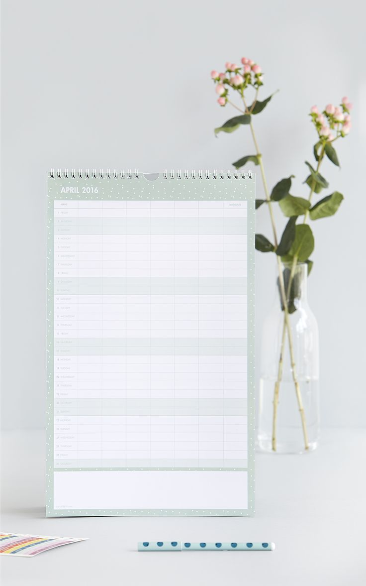 Stay organised with this kikki.K Family Calendar
