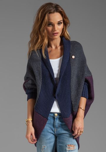 G-STAR Scene Shrug Knit Sweater in Imperial Blue at Revolve Clothing - Free Shipping!
