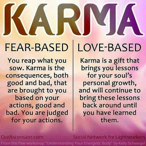Love-based karma - this sums up my interpretation of the meaning of karma entirely ❤