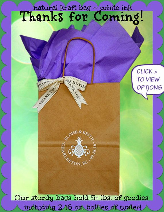 Wedding Welcome Bags Personalized Wedding Guest Gift Bags Welcome to our Wedding Favor Bag Hotel Welcome Bag - holds 5+ lbs. FREE SHIPPING!*
