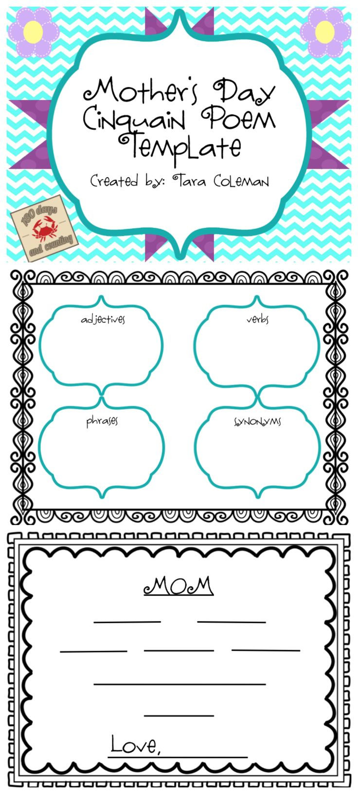 Mother's Day Cinquain Template...FREEBIE!!