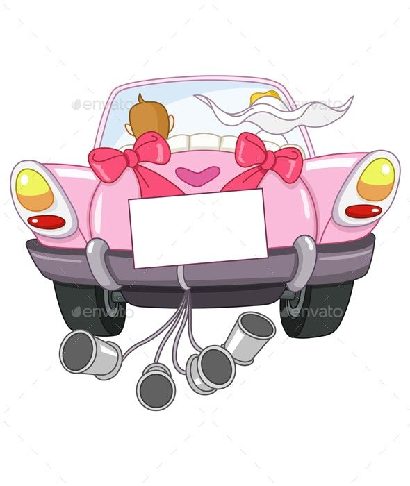 Just Married Car Just Married Car Car Illustration Classic Car Photography