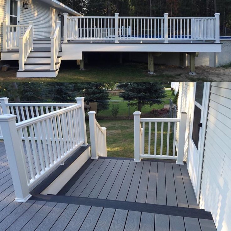 Trex Decking Gray : Trex pebble grey and winchester decking with