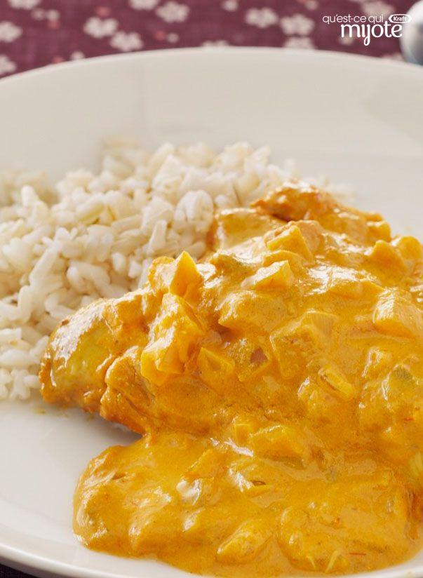 Cari de poulet à la mijoteuse #recette