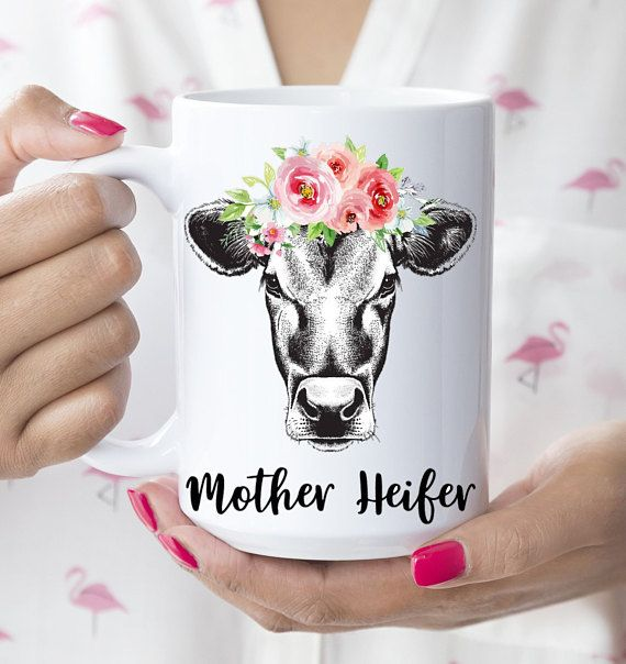 Just A Girl Who Loves Cows Coffee Cup Farmhouse Style
