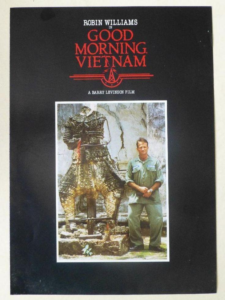 Good Morning Vietnam (Robin Williams) Press Release Info Synopsis A4 Leaflet  http://r.ebay.com/QDm6Vn