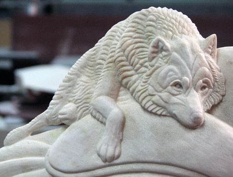 Wolf 2 - Shane Wilson | Sculpture | Stone carving ...