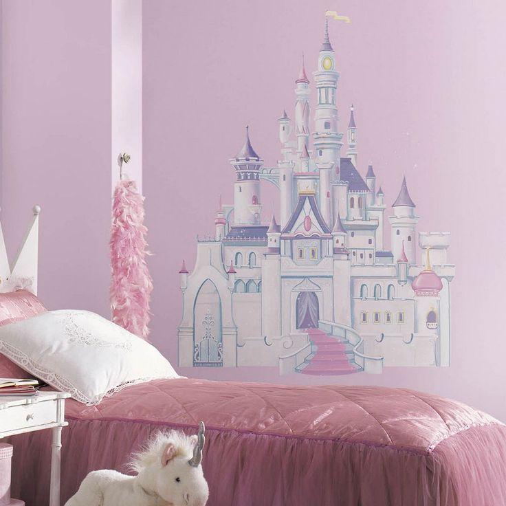 Disney Princess Castle Peel and Stick Wall Decal, Multicolor