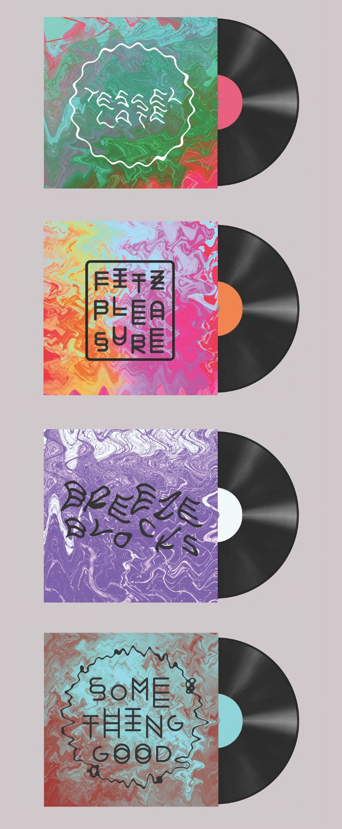 Eve Warren Record sleeve design concepts