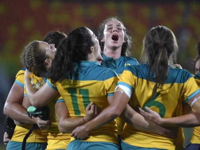 Australia were crowned the first ever Olympic rugby sevens champions after beating New Zealand 24-17 in the final of the women's tournament in Rio on Monday. Landry leads Canada to bronze:  Canada, who had gone down 22-0 to Britain in pool play, dominated the British 33-10 to claim bronze.