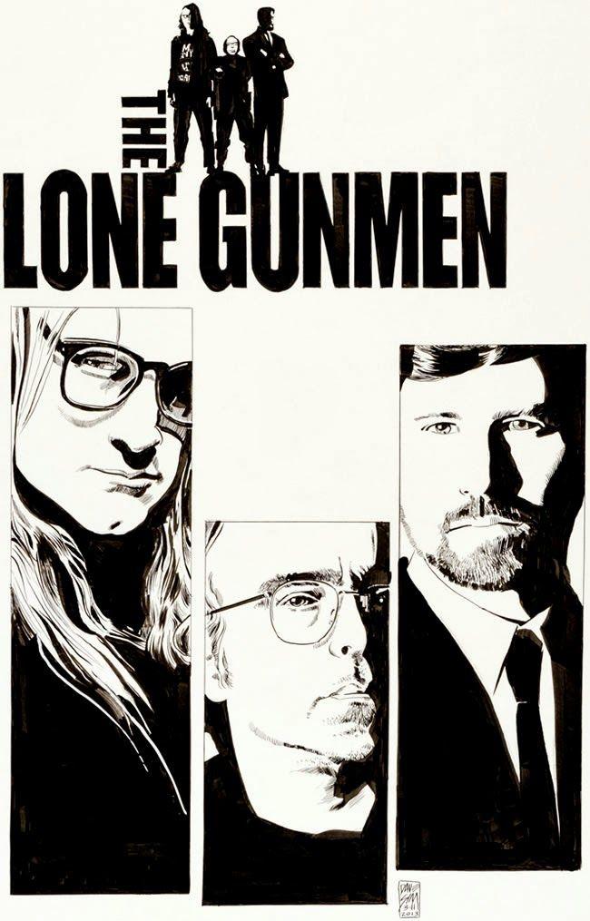 A MOMENT OF CEREBUS: Art Auction: X-Files - The Lone Gunmen #2