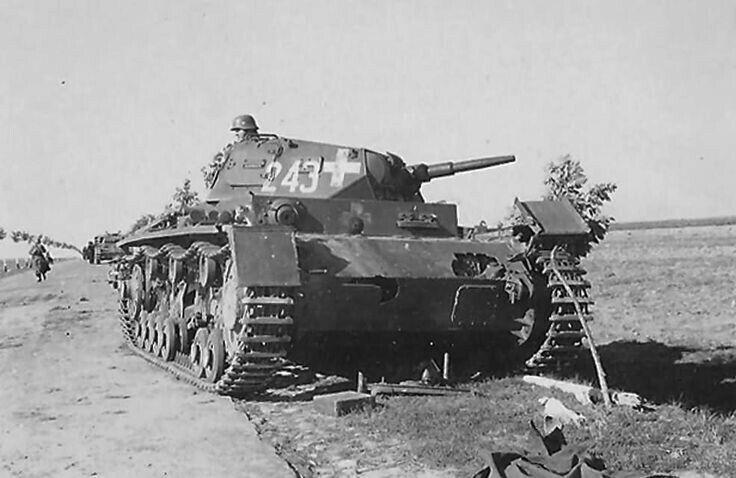 Panzer III Ausf E  подбитый в Польше 1939