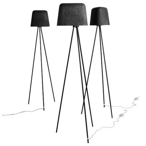 felt tripod lamp, tom dixon