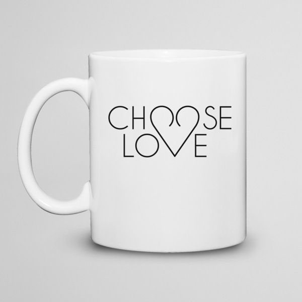 Choose love  - kubek 330ml w artiglo na DaWanda.com