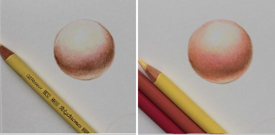 colored pencil steps continued