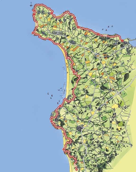 Sentier du litoral ou GR 223 (sentier des douaniers) | La Hague - Terre de randonnées pédestre et balades dans le Cotentin et Normandie