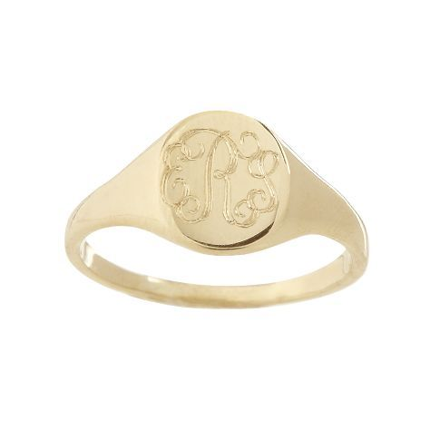 Obsessed with these right now!!! Petite Signet Ring | Mark and Graham
