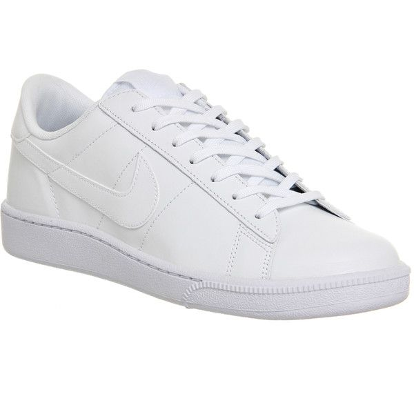 Nike Tennis Classic ($95) ❤ liked on Polyvore featuring shoes, athletic shoes, trainers, unisex sports, white mono, white athletic shoes, white low tops, nike, sport shoes and lightweight tennis shoes