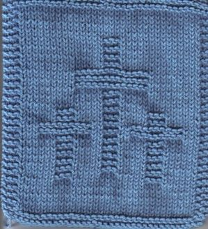 Knitted Three Crosses Cloth