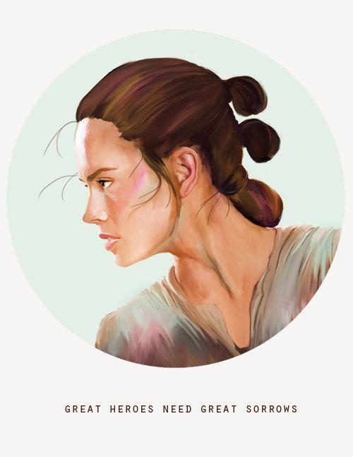Star Wars Art Rey Star Wars Painting Star by WaywardDaughterArt