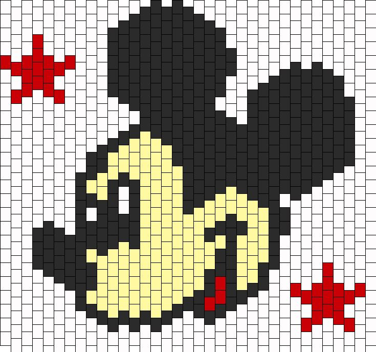 Mickey Mouse bead pattern