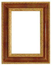 Cornice in legno finitura Oro foglia e Bordeaux - ART BR139B