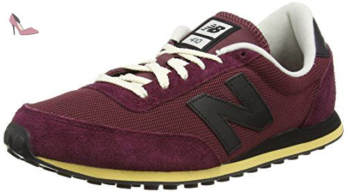 New Balance U410, Baskets basses Mixte adulte - Rouge - Red (Vintage Dark Red/Black), 42 EU (8 UK) - Chaussures new balance (*Partner-Link)