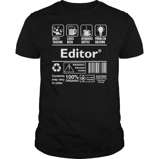 I Love Editor Multitasking Beer Coffee Problem Solving  Mens T Shirt Shirts & Tees