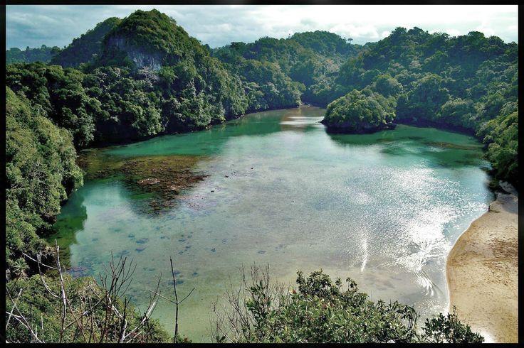 lake in Sempu island