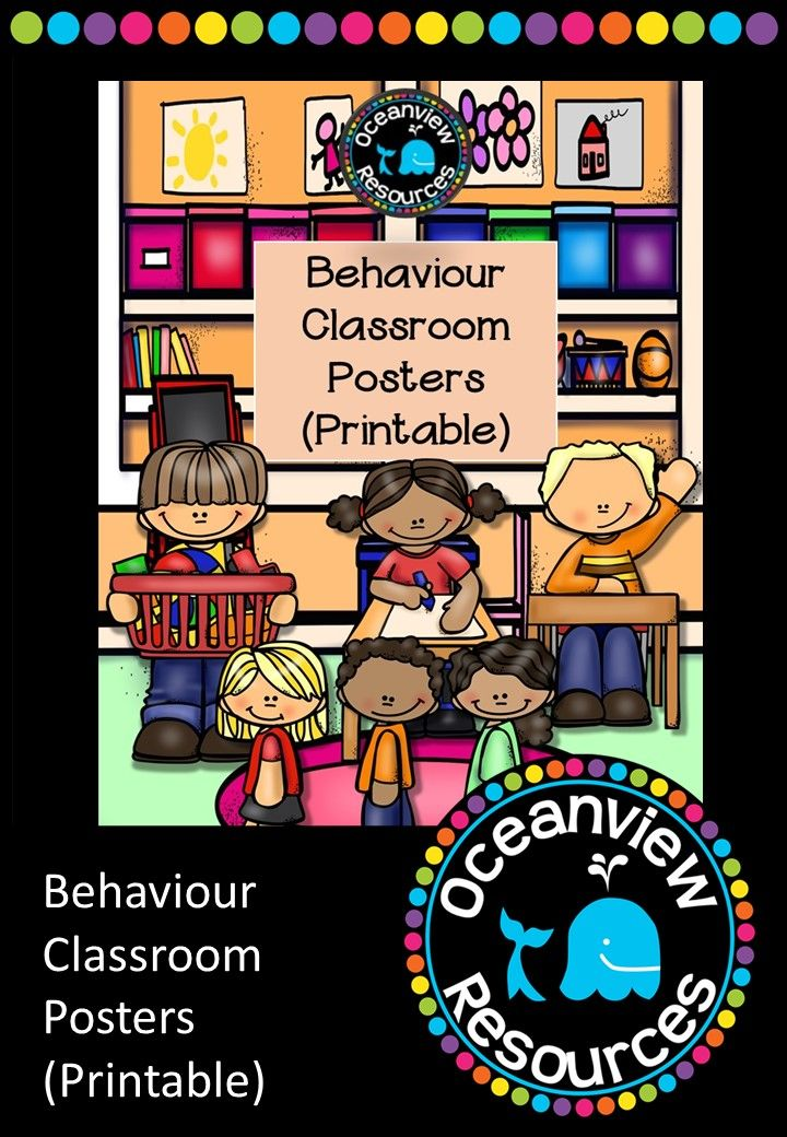 Behaviour Classroom Posters are perfect to use as displays or discussion starters when outlining your expectations of behaviour in the classroom. You can choose one as a focus for the lesson (e.g. keeping an organised and tidy space, using and inside voice, etc.) These images are colourful and engaging for younger students to relate to, with beautiful images from Educlips to bring them alive. 49 pages for $2! http://designedbyteachers.com.au/marketplace/behaviour-classroom-posters-printable/