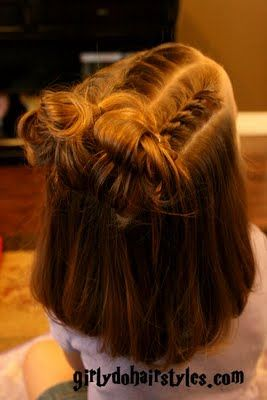 So cute! Girly Do Hairstyles: By Jenn: Twisted into Messy Buns