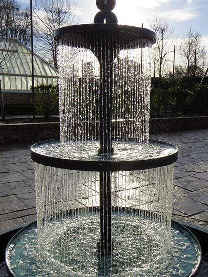 Sun Shining On The Crucello Tiered Fountain At Dusk. Outdoor FountainsGarden  FountainsWater FountainsFountain IdeasWater ...