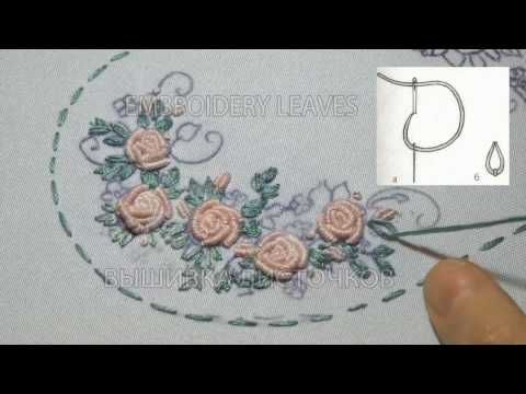 ВЫШИВКА: РОЗЫ РОКОКО \ Hand Embroidery: Bullion Knot Stitch\ - YouTube