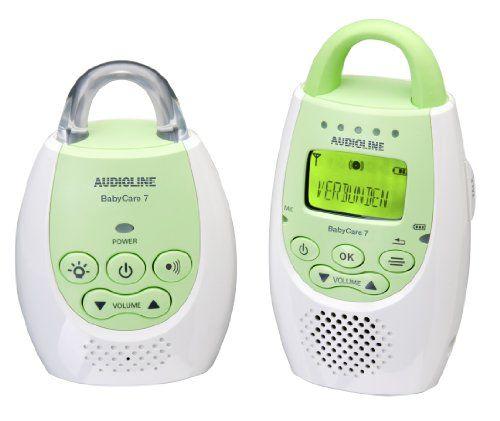 Audioline 596016 Baby Care 7 Babyphon mit digitaler, rauschfreier Funkübertragung