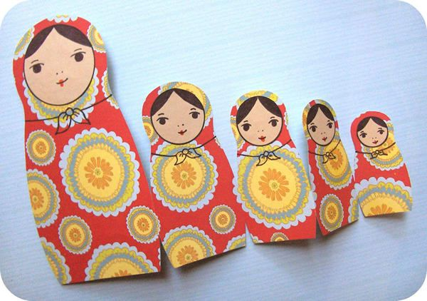 Found Free Nesting Doll Card Template Nesting Dolls Craft Doll Crafts Russian Nesting Dolls