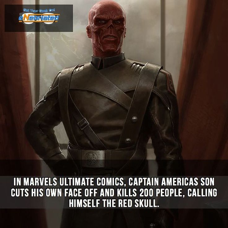 What's your favorite surprise #comic ending?  Follow @eNebriated for more awesome #geektent daily  Hashtags--------- #redskull #captainamerica #steverogers #chrisevans #teamcap #marvelfacts #comicfact #supherofacts #superhero #marvelfact #comicfacts #geekyfact #nerdyfact #geekyfact