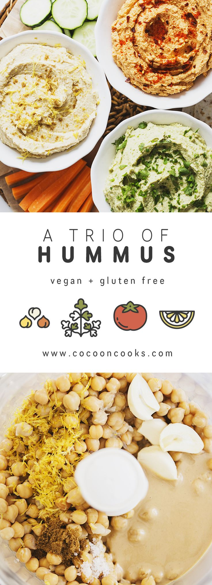 Three healthy, vegan & delicious recipes to please the Hummus-lover in us all! #easy #vegan #recipe | healthy recipe ideas @xhealthyrecipex |