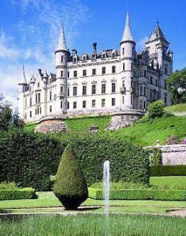 scozia il castello di dunrobin