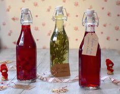 liqueur gin pommes mures, vodka framboises et gin infusé au romarin