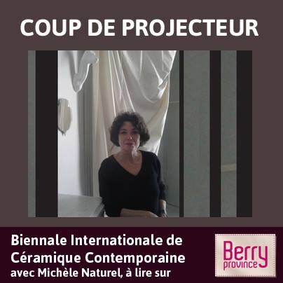 Découvrez les différents événements de la Biennale de Céramique Contemporaine avec Michèle Naturel