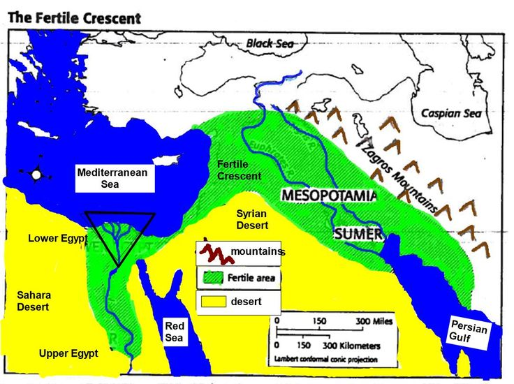 egypt vs fertile crescent What were the similarities and differences in the geography of ancient egypt and egypt's river, the nile, deposited fertile dark silt during floods and this made.