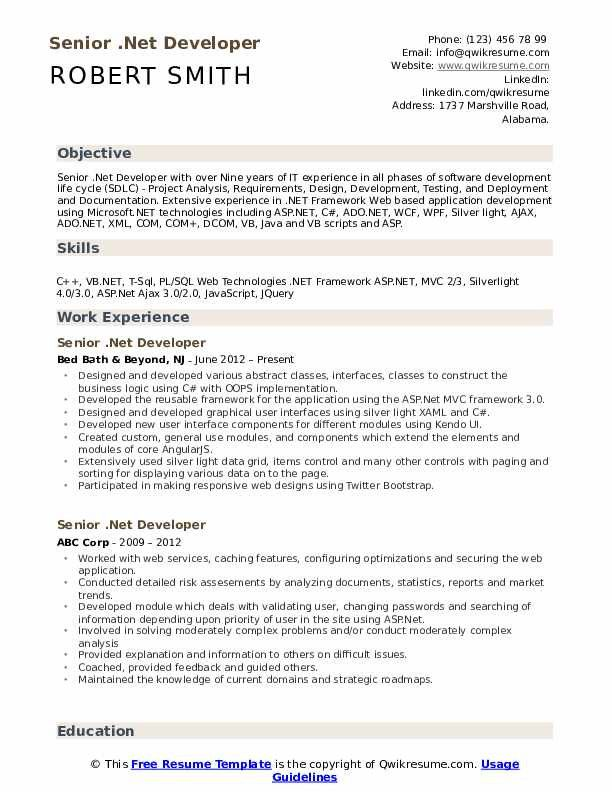 Cover Letter For Net Developer In 2020 Resume Examples Job Resume Samples Resume