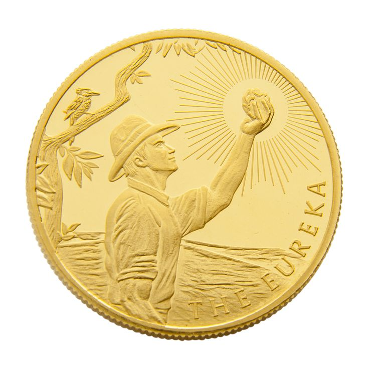 "Also referred to as the Eureka Stockade, the Eureka Rebellion is a key event in the birth of Australian democracy and the term ""Digger"". #abcbullion #gold #australian #eureka #minted #coin #pallion"