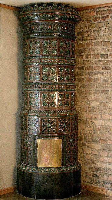 Antique Swedish tiled stoves - Tiled stoves installed - Lindholm Kakelugnar