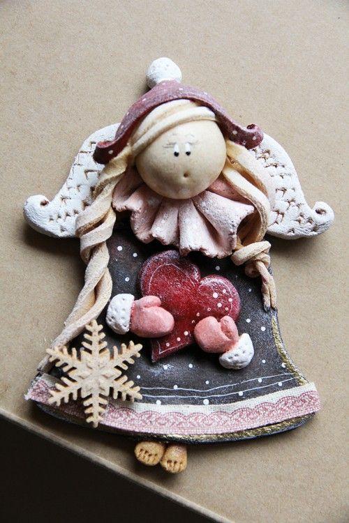 Salt dough by Paulina Silarow / OGdesign  Anielinka Śnieżynka no.2 -  Boże Narodzenie