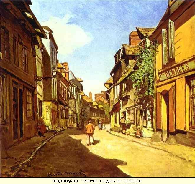 Claude Monet. La Rue de la Bavolle in Honfleur.
